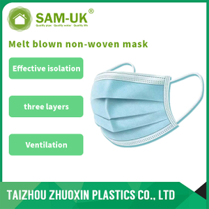 Three layer structure of disposable protective mask for civil use to protect health and safety (non-medical)