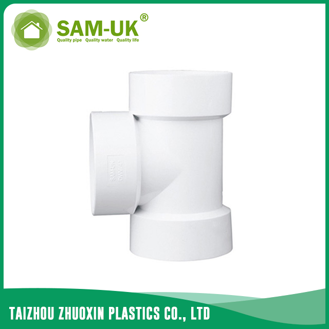 PVC DWV tee for drainage water ASTM D2665