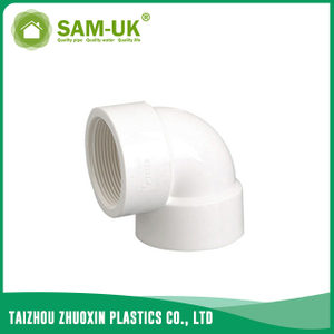 PVC threaded elbow for water supply BS 4346