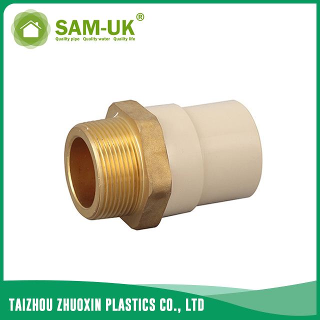 CPVC male brass coupling for water supply Schedule 40 ASTM D2846