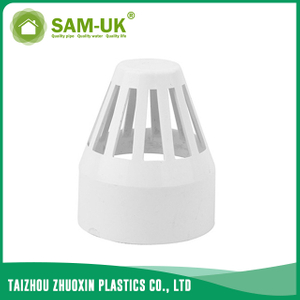 PVC drain pipe end cap for drainage water ASTM D2665