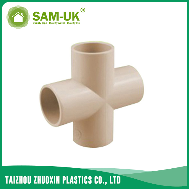 CPVC pipe cross for water supply Schedule 40 ASTM D2846