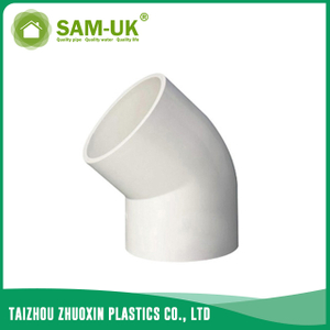 PVC elbow by 45 degree for water supply GB/T10002.2