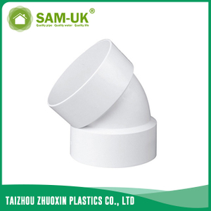 PVC DWV 45 degree elbow for drainage water ASTM D2665